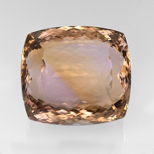 166.5ct Cushion-Cut Bi-Color Ametrine Gem (ID: 505504)