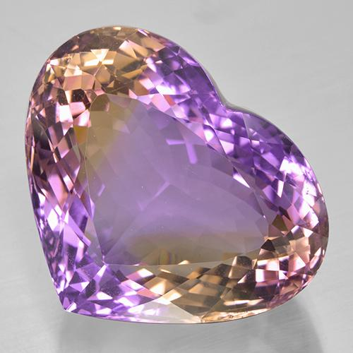 46.1ct Heart Facet Bi-color Ametrine Gem (ID: 506025)