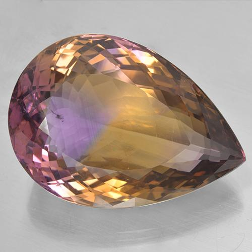 Bi-Color Ametrine Gem - 53.6ct Pear Facet (ID: 506042)