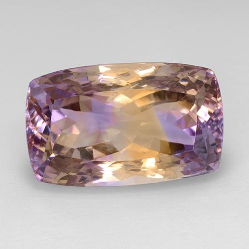 Bi-Color Ametrine Gem - 28ct Cushion-Cut (ID: 508890)
