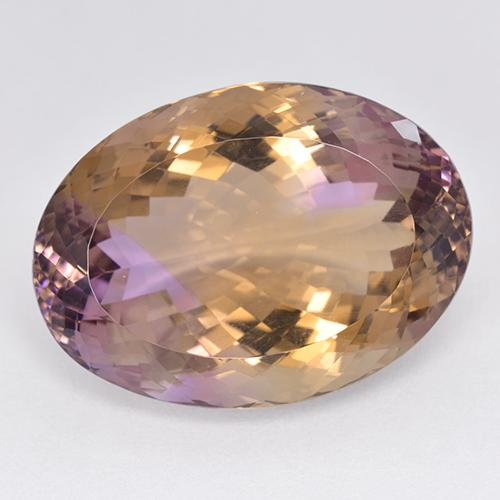 Bi-color Ametrine Gem - 49.2ct Oval Portuguese-Cut (ID: 512823)