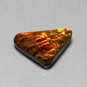6.44 ct Natural Multicolor Ammolite