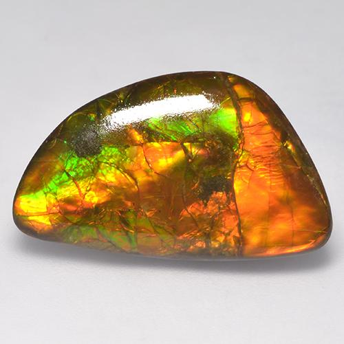 14.9ct Fancy Cabochon Multicolor Ammolite Gem (ID: 523393)