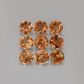 Multicolor Andalusite Gem - 0.3ct Round Facet (ID: 205738)