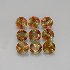 Multicolor Andalusite Gem - 0.3ct Round Facet (ID: 205808)