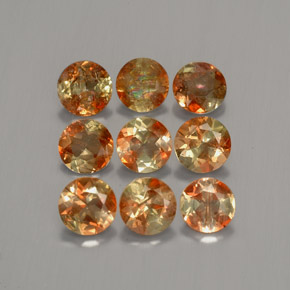 Multicolor Andalusite Gem - 0.3ct Round Facet (ID: 205892)