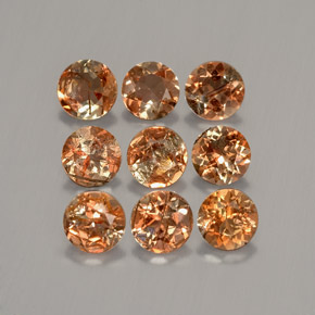 Multicolor Andalusite Gem - 0.3ct Round Facet (ID: 205895)
