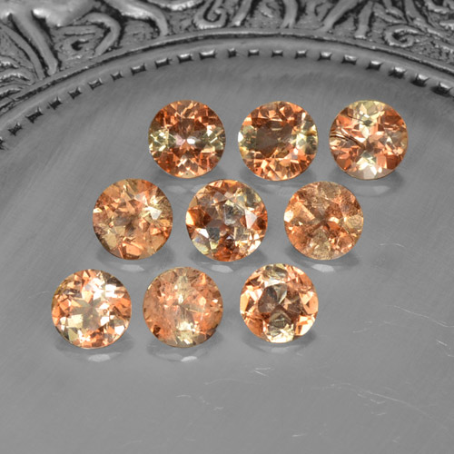 Multicolor Andalusite Gem - 0.3ct Round Facet (ID: 206015)