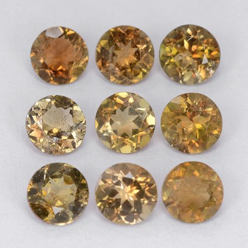 Multicolor Andalusite Gem - 0.3ct Round Facet (ID: 206126)