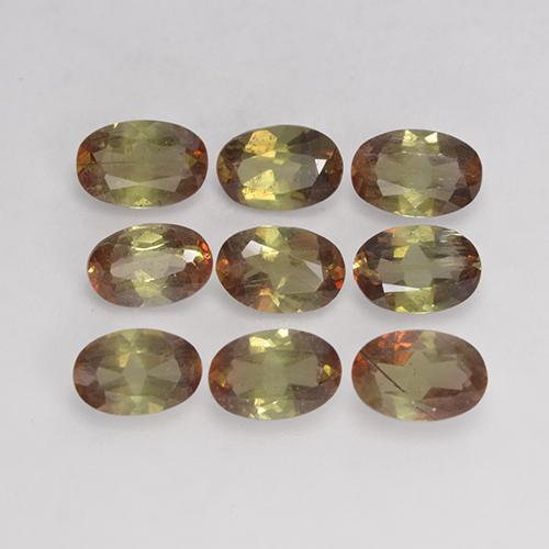 Multicolor Andalusite Gem - 0.4ct Oval Facet (ID: 206383)