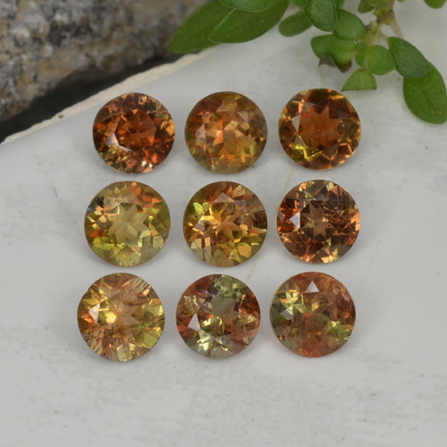 Multicolor Andalusite Gem - 0.3ct Round Facet (ID: 206611)