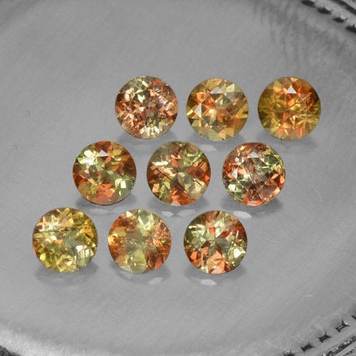 Multicolor Andalusite Gem - 0.3ct Round Facet (ID: 206647)