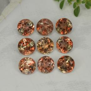 Multicolor Andalusite Gem - 0.3ct Round Facet (ID: 221437)