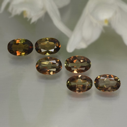 Multicolor Andalusite Gem - 0.4ct Oval Facet (ID: 245378)