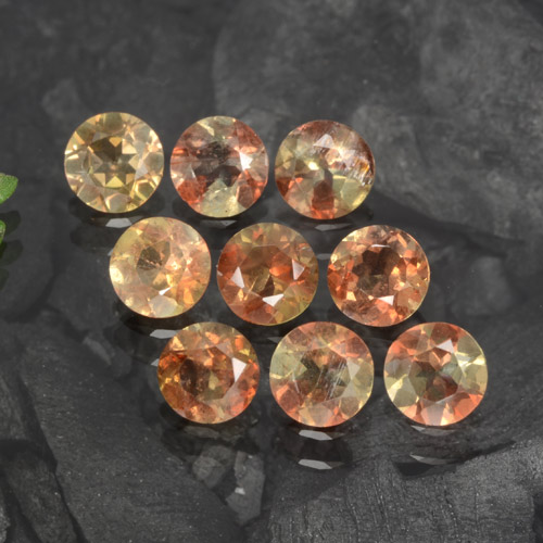 Multicolor Andalusite Gem - 0.2ct Round Facet (ID: 279596)