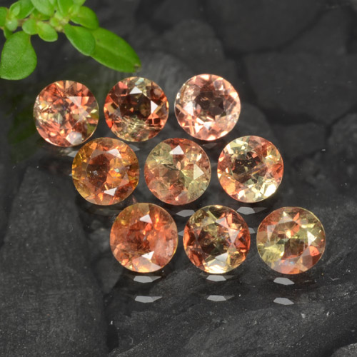 Multicolor Andalusite Gem - 0.2ct Round Facet (ID: 279604)