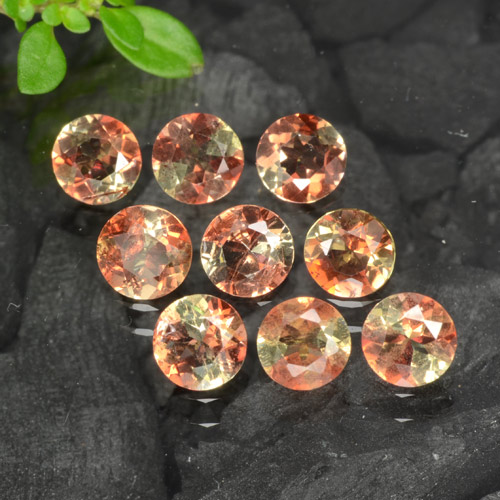 Multicolor Andalusite Gem - 0.2ct Round Facet (ID: 279606)