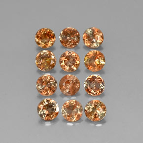 Multicolor Andalusite Gem - 0.3ct Round Facet (ID: 310823)