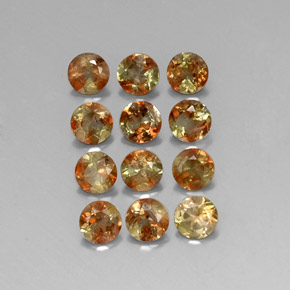 Multicolor Andalusite Gem - 0.3ct Round Facet (ID: 310828)