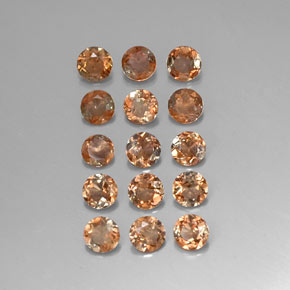 Multicolor Andalusite Gem - 0.2ct Round Facet (ID: 310830)