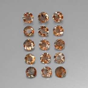 Multicolor Andalusite Gem - 0.2ct Round Facet (ID: 310831)