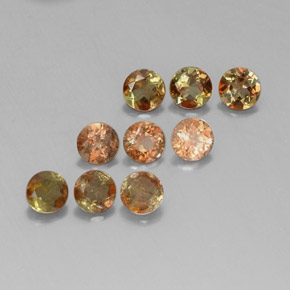 Multicolor Andalusite Gem - 0.3ct Round Facet (ID: 312899)