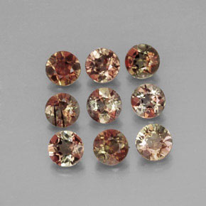 Multicolor Andalusite Gem - 0.2ct Round Facet (ID: 315003)