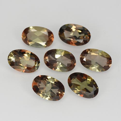 0.4ct Oval Facet Multicolor Andalusite Gem (ID: 323577)