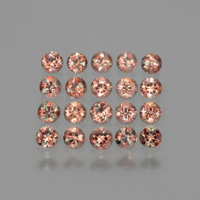 Multicolor Andalusite Gem - 0.1ct Round Facet (ID: 390524)