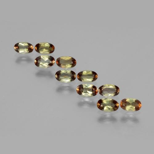 Multicolor Andalusite Gem - 0.2ct Oval Facet (ID: 390591)