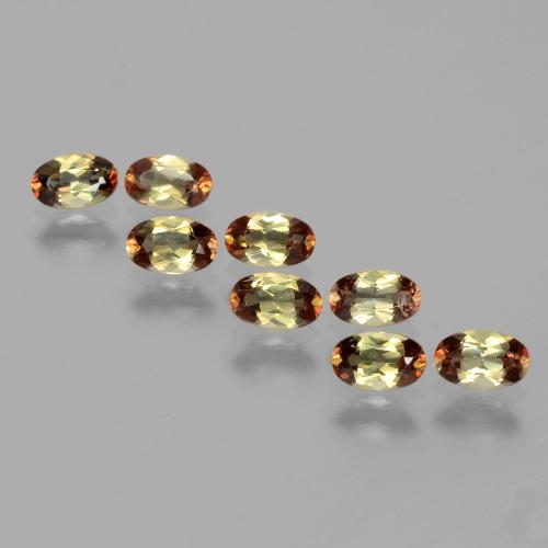 Multicolor Andalusite Gem - 0.3ct Oval Facet (ID: 390666)