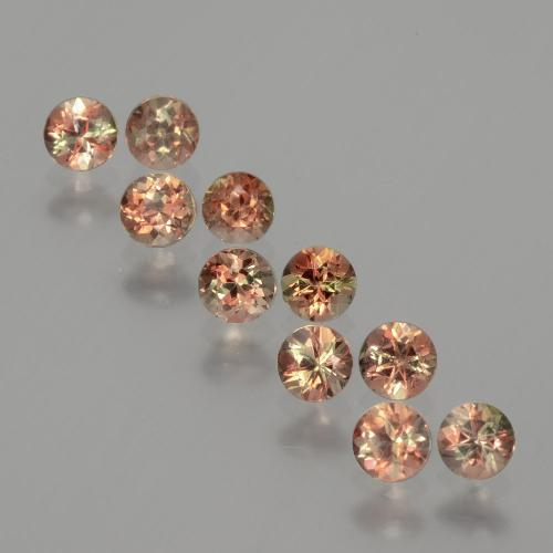 Multicolor Andalusite Gem - 0.2ct Round Facet (ID: 390733)