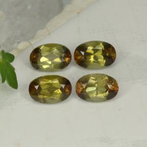 Multicolor Andalusite Gem - 0.6ct Oval Facet (ID: 390809)