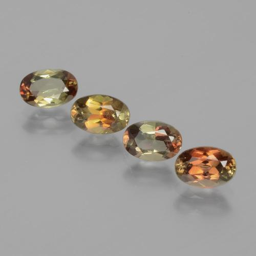 Multicolor Andalusite Gem - 0.5ct Oval Facet (ID: 390810)