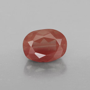 1.4ct Oval Facet Honey Red Andesine Labradorite Gem (ID: 324437)