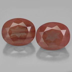 Medium Red Andesina Labradorita Gema - 4.1ct Forma ovalada (ID: 334634)