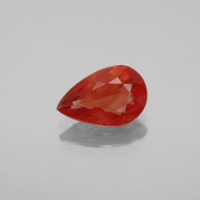 0.9ct Pear Facet Red Orange Andesine Labradorite Gem (ID: 344197)