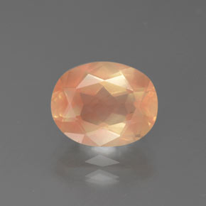 2.72 ct Oval facettiert hellorange Andesin Labradorit Edelstein 10.19 mm x 8.2 mm (Product ID: 375935)