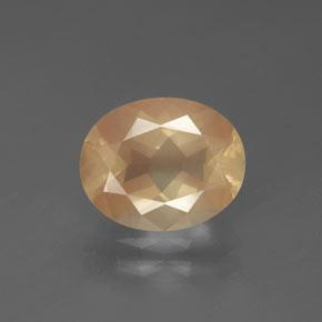 2.6ct Oval Facet Light Peachy Golden Andesine Labradorite Gem (ID: 376002)