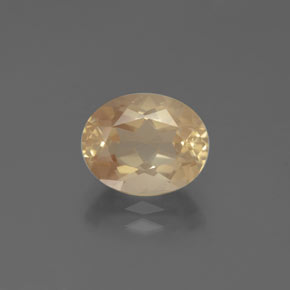 2.8ct Oval Facet Light Peachy Golden Andesine Labradorite Gem (ID: 376068)