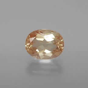 1.9ct Oval Facet Honey Orange Andesine Labradorite Gem (ID: 376103)