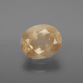 3.5ct Oval Facet Honey Orange Andesine Labradorite Gem (ID: 376135)