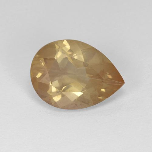 3.15 ct Pear Facet Honey Orange Andesine Labradorite Gemstone 12.26 mm x 9 mm (Product ID: 376143)
