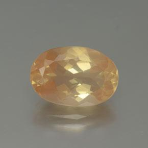 3.8ct Oval Facet Light Peachy Golden Andesine Labradorite Gem (ID: 376387)