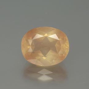 4.3ct Oval Facet Light Peachy Golden Andesine Labradorite Gem (ID: 376388)