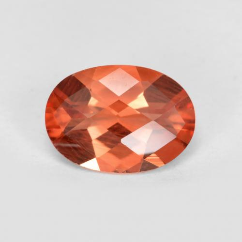 Medium Red Andesin Labradorit Edelstein - 0.7ct Oval Schachbrett (ID: 488917)