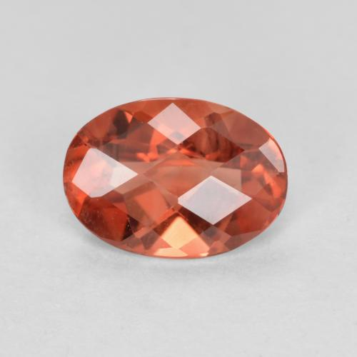 Fire Orange Andesine Labradorite Gem - 0.6ct Oval Checkerboard (ID: 489131)