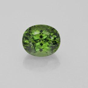 Green Apatite Gem - 4.9ct Oval Facet (ID: 366090)