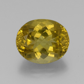 15.3ct Oval Facet Golden Apatite Gem (ID: 382102)