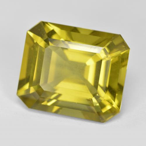 Golden Apatite Gem - 13.9ct Octagon Step Cut (ID: 382104)
